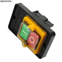 380V 10A KAO-5 ON/OFF Water Proof Push Button Machine Drill Switch Plastic Motor