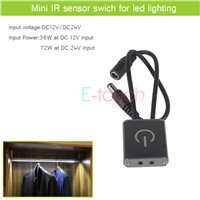 Black DC12V~24V IR Motion sensor LED Light Switch Wardrobe Cabinet Sensor Lamp Cupboard Home for LED lighting  012