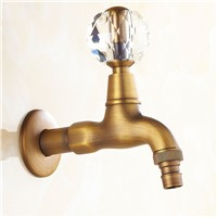 Extra Long Antique Ceramic Wall Mount Garden Faucet Laundry Mop Sink Washing Machine Faucets Cold Tap