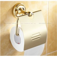 Gold Plated zirconium high-quality toilet paper holder