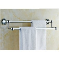 60CM Stainless Steel Towel Rack Double Bar Towel Rack Thickening Bathroom Accessories