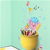 DIY Wall Stickers,Multifunctional Tubular Container,Wall Sticker for Bathroom/Bedrood,Wall Stickers with Toothbrush/Pen Holders