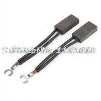 2 Pieces 10mm x 20mm x 40mm Electric Motor Copper Carbon Brushes with Leads