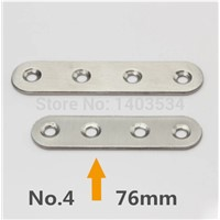 2pcs 76*18mm stainless steel 180 degree angle bracket satin finish frame board support