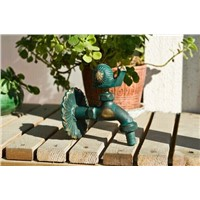 Decorative outdoor faucets Wall mounted rural animal garden Bibcock with antique bronze snail tap