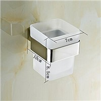 Bathroom accessories Single tooth cup holder bathroom cup rack Square Single tumbler Tooth Cup Holder