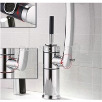 brass material  unique design Bathroom sink Basin Mixer With Long Arm Rotate basin  Faucet tap mixer