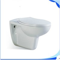 COMPACT SHORT PROJECTION WALL HUNG TOILET PAN CHROM PLATED SOFT CLOSE SEAT L101