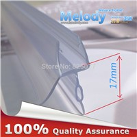 Plastic Rubber Bath Shower Screen Door Seal Strips 6-10mm Glass Door 10-17mm Gap length:700mm