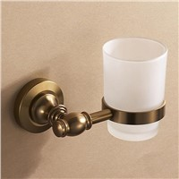 Bathroom antique bathroom accessories single cup holder Tumbler holder brushing European Space aluminum single glass cup holder