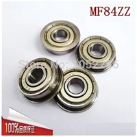 50pcs/lot  Flanged bearing  MF84ZZ   miniature flange deep groove ball bearings  4*8*3 mm