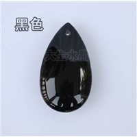 30pcs/lot,38mm black color crystal chandelier prism lighting pendant parts