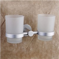 The silver space aluminum alloy tooth cup holder glass tooth cup holder 2014 new bathroom products