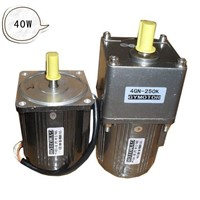 AC 220V 40W Single phase gear motor, Constant speed motor with gearbox. AC gear motor,