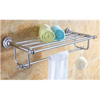 towel rack brass chrome ceramic clothes towel rack bathroom accessories towel racks chrome CB008K-1