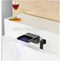 Oil Rubbed Bronze Waterfall Led Basin Faucet Single Lever Mixer Tap