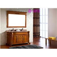 classic bathroom cabinet with 2 sinks