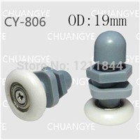 mm nylon pulley sliding door wheels circular arc glass shower room pulley sliding door OD:19