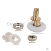 Shower room pulley glass door nylon roller wheels copper large bearing25mm