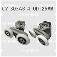 Shower room pulley bathroom roller glass door wheels arc shower room OD:25MM