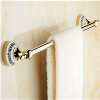 2015 Single Fasion 60cm Bathroom Towel Rack And Ceramic Accessories of Golden Bar Real Rushed Prateleira Cobre Leito Casal