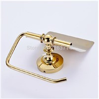 Wall Mounted New Bathroom  Accessories sets Brass Easy Install Paper Holders Golden Finish Toilet Paper Towel Holder OG-25851C