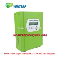 LCD RS232 LAN MPPT 30A 48Vmppt solar charge controller / Solar battery charger controller,Vented, Gel, NiCd battery Etc