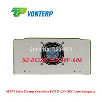 48V 60A MPPT solar charge controller, 60A Solar panel battery charger controller, with RS232 Lan Charge Vented ,NiCd, Gel