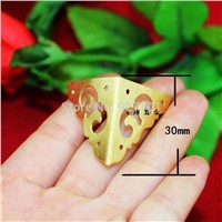 vintage brass corners decorative metal Wooden gift box protection angle corner brackets Furniture hardware 30*30mm  4pcs/lot
