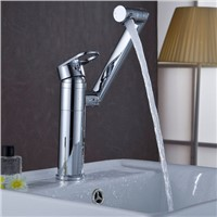 Solid brass single handle luxury bathroom faucet,good quality and modern sink mixer tap,rotatable tap