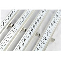 "DIYHD 39 2/5"" S Wave Cut Stainless Steel Shower Drain Channel Linear Shower Drain"