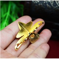 42*30MM10pcs vintage antique gold plated wooden jewelry box corner brackets desk edge furniture corner feet hardware accessories