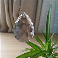 12 pieces 38MM K9 Optical Clear Crystal Prism Ornament Suncatcher Glass Beads For Chandeliers Crystal Lamp Prism Part