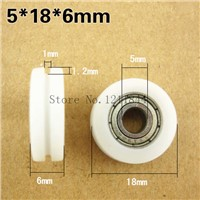 5x18x6 U Groove Nylon Ball Bearings Wheels Roller for Furniture