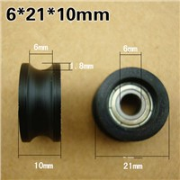 U-shaped groove pulley nylon bag groove of the rubber note moving plastic doors and Windows