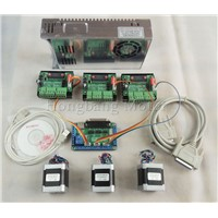 CNC Router mach3 3 Axis Kit, 3pcs TB6560 driver + 5 axis stepper motor controller + 3pcs nema17 1.8A motor +24V power supply