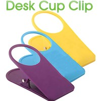 New Designed 1pc New Style Home Office Drink Plastic Cup Coffee Holder Clip Desk Table Candy Colors Sale  6DXG