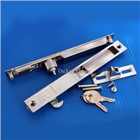 HOT 50PCS/lot Double-sided lock for aluminium alloy door and window/sliding door window double hook lock with keys