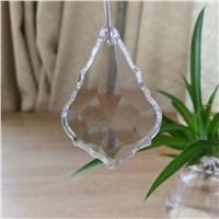10pcs 38*22mm Clear Maple Leaf Shape Crystal Lamp Pendants Hot Sale Crystals For Chandeliers Crystal Prism Chandelier Parts