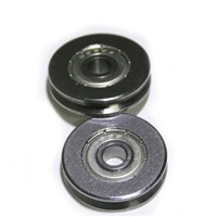High quality Bearing Steel V Groved Wire Pulley Wheels Roller Deep Groove Ball Bearing , 5*22 *5mm , 5 pcs