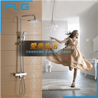 "Luxury Temperature Control Thermostatic Shower Faucet Set Wall Mount 8"" Rainfall Shower Set Mixer Tap"