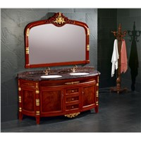 solid wood bathroom cabinet/bathroom vanity cabinet