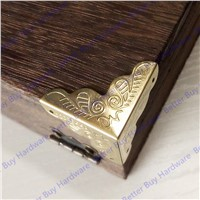 12pcs/lot 25mm Antique Flower Pattern Carved Corner Protector For Jewelry Box Corner Brackets Decorative For Wooden Case