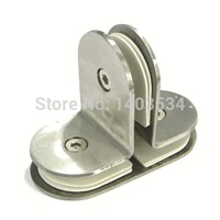 Shower room hardware accessories stainless steel square 90 fitted clip t 180 punch fitted glass clip