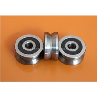 Outer ring V type groove double row roller guide bearing LV20/8-2RS dimension 8*30*14mm