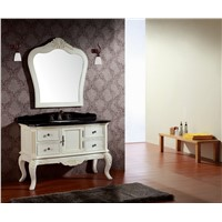 wooden bathroom cabinet with classical design