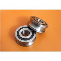 track rollers with gothic arch groove-type LFR bearing  20*52*22.5Outer ring U groove, over 16mm optical axis