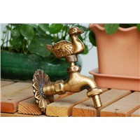 Animal shape garden Bibcock Rural style antique bronze Duck tap with Decorative outdoor faucet for Garden washing