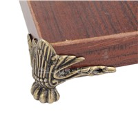 4pcs Antique Bronze Wooden Box Desk Table Foot Corner DIY Protector Zinc Alloy