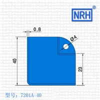 NRH 7201A-40 steel corner Protector high quality amplifier corner Angle bead performance equipment case cornerite chrome finish